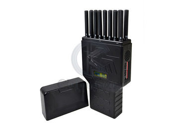 Portable 16 Bands Cell Phone Signal Jammer Hidden Antenna WiFi 5G GPS LCD Display
